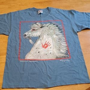 Vintage 1995 by England warbonnet appaloosa tee